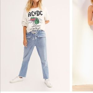 Free people city slouch tapered jeans